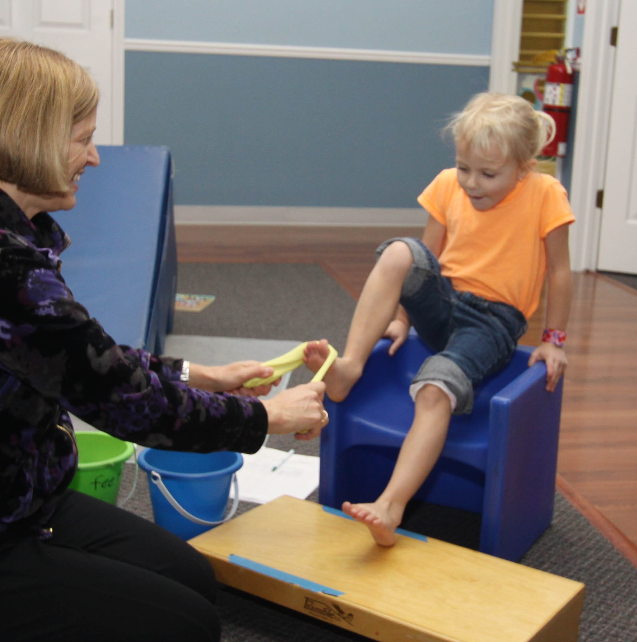 pediatric physical therapy Learn about the various types of pediatric therapy including occupational therapy, physical therapy, and speech language therapy.