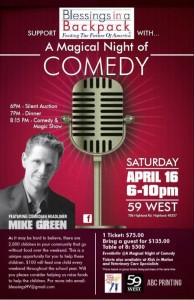 Comedy Fundraiser Flyer