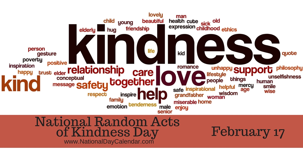 Happy National Random Acts of Kindness Day :) - Kids In Motion