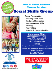 2018 Social Skills Group July Commerce