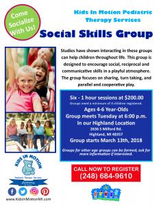 March 2018 Social Skills Flyer