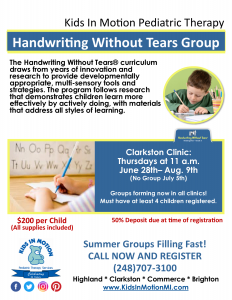 2018 Handwriting Group Flyer